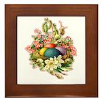 Springtime Easter Basket Framed Tile