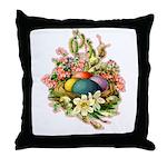 Springtime Easter Basket Throw Pillow