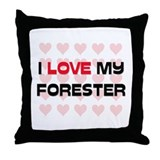 I Love My Forester Throw Pillow