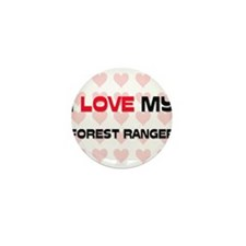 I Love My Forest Ranger Mini Button (10 pack)