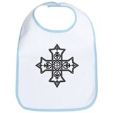 Black and White Coptic Cross Bib