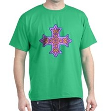 Violet Coptic Cross T-Shirt