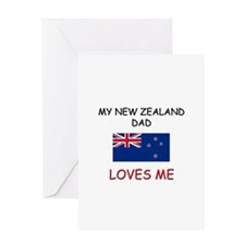My NEW ZEALAND DAD Loves Me Greeting Card