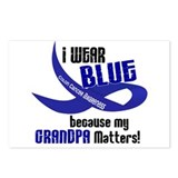 I Wear Blue For My Grandpa 33 CC Postcards (Packag