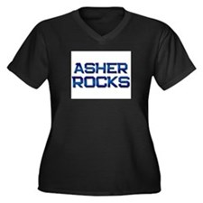 asher rocks Women's Plus Size V-Neck Dark T-Shirt