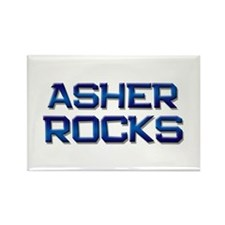 asher rocks Rectangle Magnet