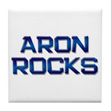 aron rocks Tile Coaster