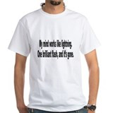 Mind Like Brilliant Lightning Humor Shirt