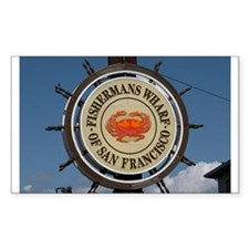 fishermans wharf Rectangle Decal