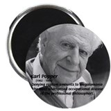 "Philosophy Karl Popper 2.25"" Magnet (10 pack)"