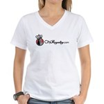CityRoyalty.com Signature Women's V-Neck T-Shirt
