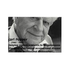 Philosophy Karl Popper Rectangle Magnet