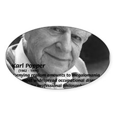 Philosophy Karl Popper Oval Decal