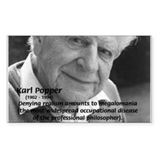 Philosophy Karl Popper Rectangle Decal