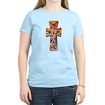 Pretty Stained Glass Look Cross Women's Light T-Sh