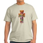 Pretty Stained Glass Look Cross Light T-Shirt