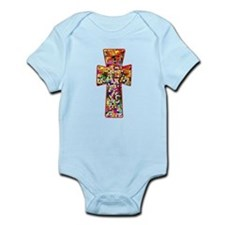 Pretty Stained Glass Look Cross Infant Bodysuit