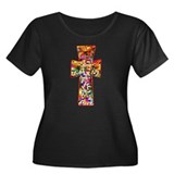 Pretty Stained Glass Look Cross T