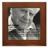 Open Society: Karl Popper Framed Tile