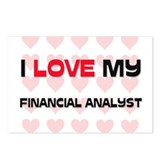 I Love My Financial Analyst Postcards (Package of