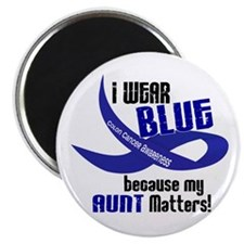 I Wear Blue For My Aunt 33 CC Magnet
