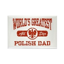 World's Greatest Polish Dad Rectangle Magnet
