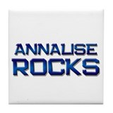 annalise rocks Tile Coaster