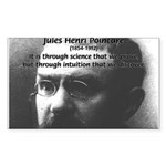 Theoretical Science Poincare Rectangle Sticker