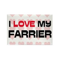 I Love My Farrier Rectangle Magnet