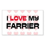 I Love My Farrier Rectangle Decal