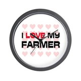 I Love My Farmer Wall Clock