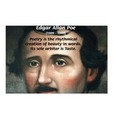 Poet Edgar Allan Poe Postcards (Package of 8)