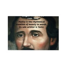 Poet Edgar Allan Poe Rectangle Magnet