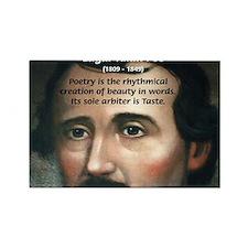 Poet Edgar Allan Poe Rectangle Magnet (10 pack)