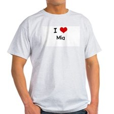 I LOVE MIA Ash Grey T-Shirt
