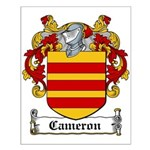 Cameron Coat of Arms Small Poster