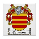 Cameron Coat of Arms Tile Coaster