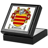 Cameron Coat of Arms Keepsake Box