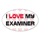 I Love My Examiner Oval Decal