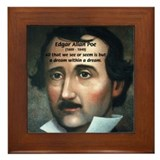 Writer Edgar Allan Poe Framed Tile