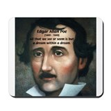 Writer Edgar Allan Poe Mousepad