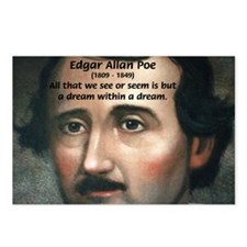 Writer Edgar Allan Poe Postcards (Package of 8)