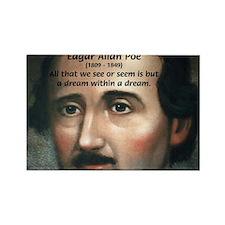Writer Edgar Allan Poe Rectangle Magnet (10 pack)
