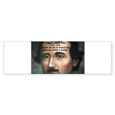 Writer Edgar Allan Poe Bumper Car Sticker