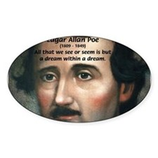 Writer Edgar Allan Poe Oval Decal