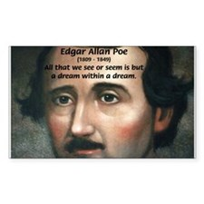 Writer Edgar Allan Poe Rectangle Decal