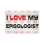 I Love My Ergologist Rectangle Magnet (10 pack)