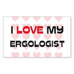 I Love My Ergologist Rectangle Sticker
