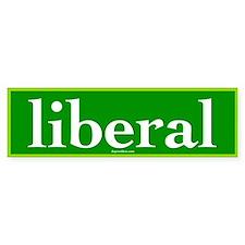 Green Liberal Bumper Car Sticker