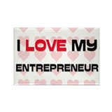 I Love My Entrepreneur Rectangle Magnet